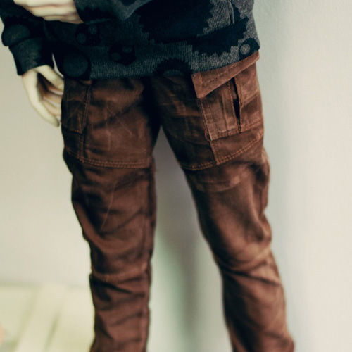 SD17 Boy Washing Cotton Baggy Pants - Brown