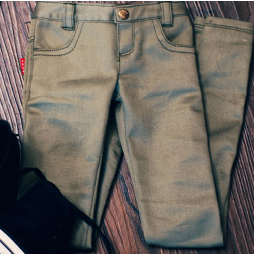 SD17 Color Skinny Pants - Khaki