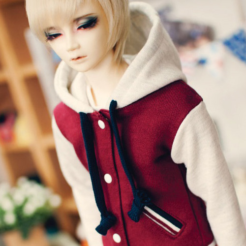 SD13 Boy Baseball Hooded Jumper - Wine