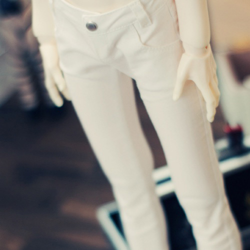 SD13 Boy Color Sknny Pants - White