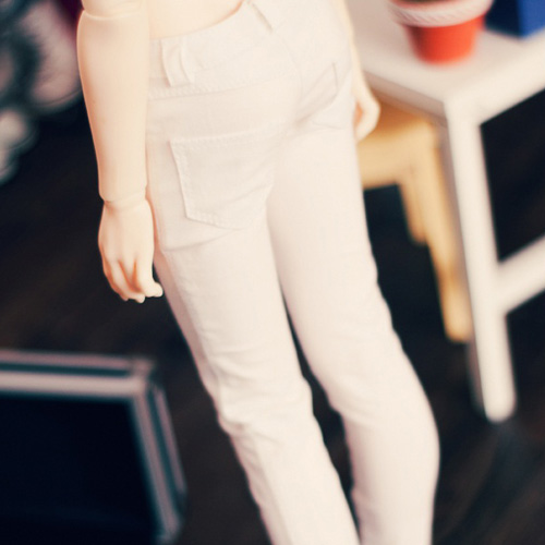 SD13 Girl Color Skinny Pants - White