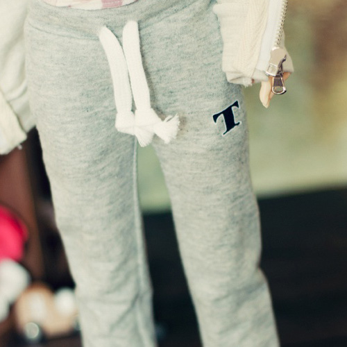 SD13 Girl Sweat Pants - Gray / L.Blue