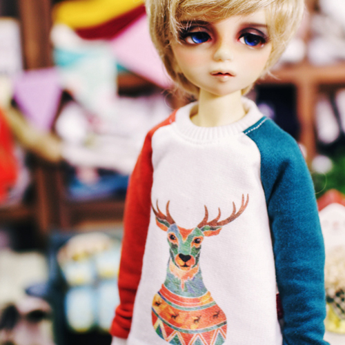 MSD An Antler MTM - Bluish Green , Orange
