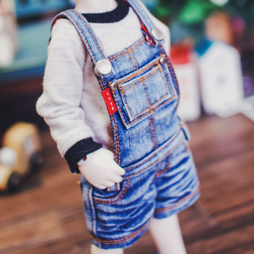 USD New Washing Short Overalls - Blue
