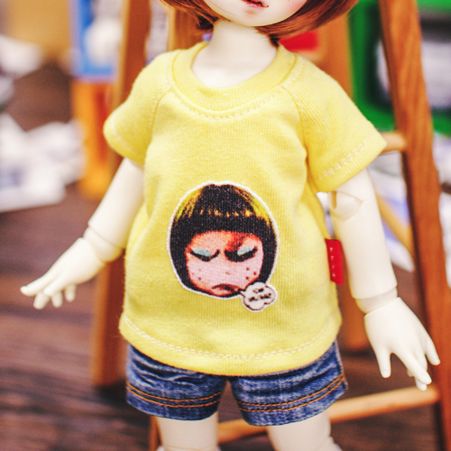 USD Ugly Girl T shirt  - Yellow