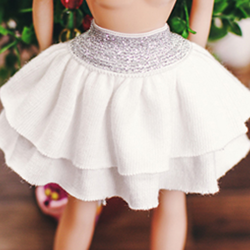 Blythe Twinkle Band Skirt - White