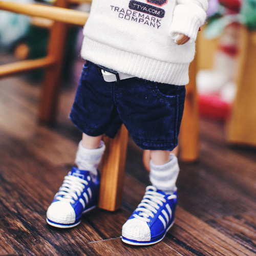 Blythe Washing Baggy Cotton Short Pants - Navy