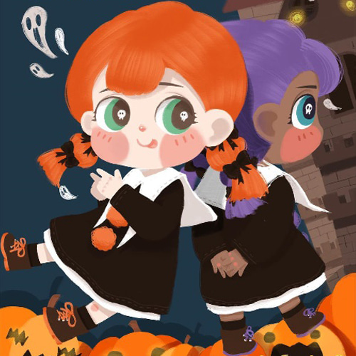 Fairy Town doll - Holala Halloween limited 🎃pumpkin pie🎃
