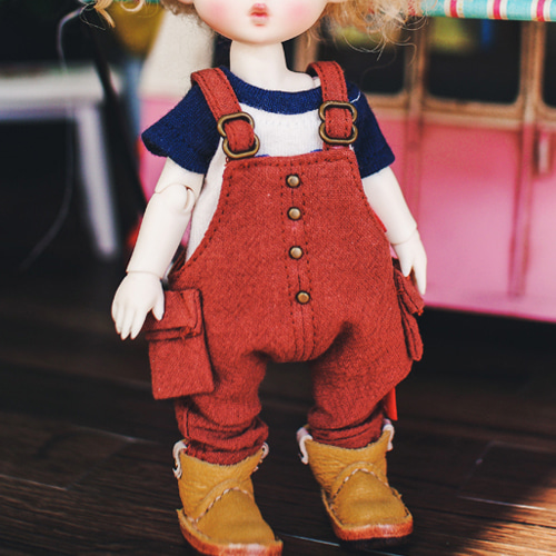 Cotton Overall - Red Brown