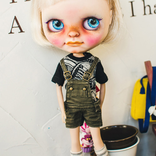 Blythe Washing Cotton Overall - Khaki