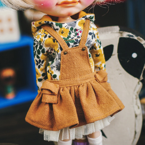 Blythe Cotton Skirts Overall - L.Brown