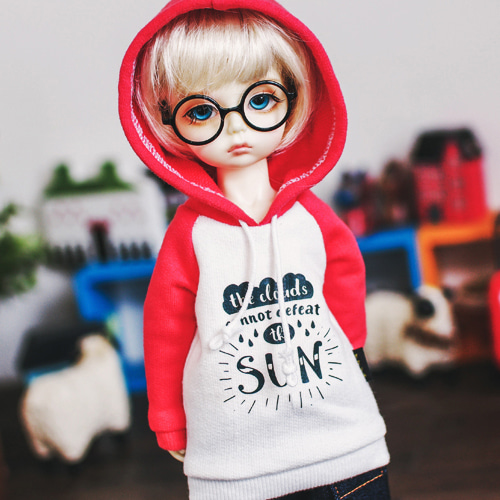 USD SUN Hooded T - Coral Pink