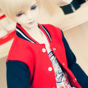 SD17 Boy Baseball Jumper - Red & Navy