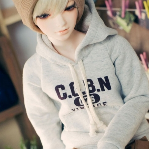 SD13 Boy Vintage Spirit Hooded T - Oatmeal