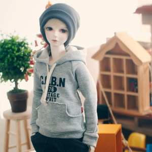 SD13 Boy Vintage Spirit Hooded T - Gray