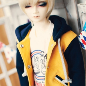 SD13 Boy Baseball Hooded Jumper - Mustard