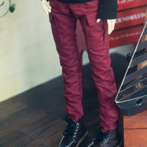 Sd13 Boy Cargo Pants - Wine