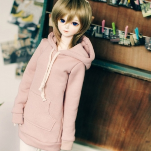 SD13 Girl Long Hooded T - Indi Pink