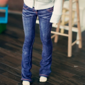 SD13 Girl Washing Boot Cut Jeans - Blue