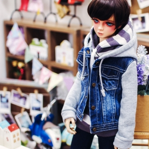 SD13 Boy Coloration Denim Jumper - Gray