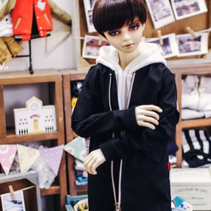 SD17 Boy Long Airlines Jumper - Black