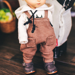 Baggy Cotton Overall - Brown