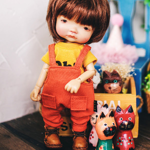 Baggy Cotton Overall - Orange