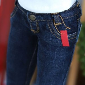 SD13 Girl & Smart Doll Stone Washing Real Skinny Jeans - D.Blue