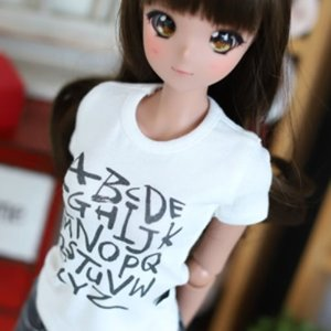 SD13 Girl & Smart Doll Alphabet T shirt - White