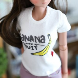 SD13 Girl & Smart Doll Banana T shirt - White