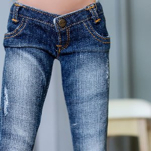 SD13 Girl & Smart Doll New Washing Damage Jeans - Blue