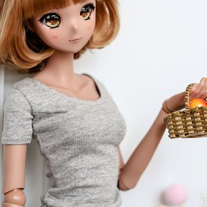 SD13 Girl & Smart Doll Slim Short Sleeve T shirt - Gray