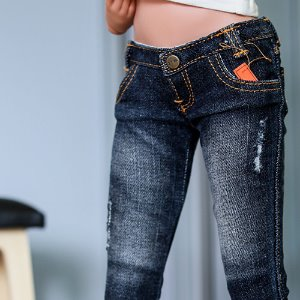 SD13 Girl & Smart Doll New Washing Damage Jeans - D.Blue