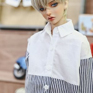 SD13 Boy FreeHalf line Shirt - Navy