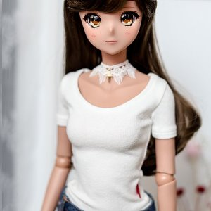 SD13 Girl & Smart Doll Slim Short Sleeve T shirt - White
